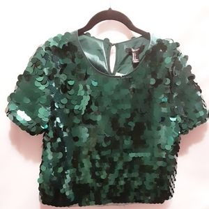 Beautiful green sequined blouse